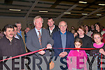 RED TAPE: Ceann Comhairle John O'Donoghue  cuts the tape to officially open the new sports and community centre in Annascaul on Sunday.   Copyright Kerry's Eye 2008