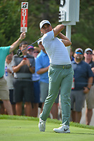 Jason Day (AUS) watches his tee shot on 13 during 1st round of the World Golf Championships - Bridgestone Invitational, at the Firestone Country Club, Akron, Ohio. 8/2/2018.<br /> Picture: Golffile | Ken Murray<br /> <br /> <br /> All photo usage must carry mandatory copyright credit (&copy; Golffile | Ken Murray)