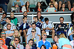The Hague, Netherlands, June 15: Men´s team of Argentina sign a hockey stick and watch the field hockey gold match (Men) between Australia and The Netherlands on June 15, 2014 during the World Cup 2014 at Kyocera Stadium in The Hague, Netherlands. Final score 6-1 (2-1)  (Photo by Dirk Markgraf / www.265-images.com) *** Local caption ***