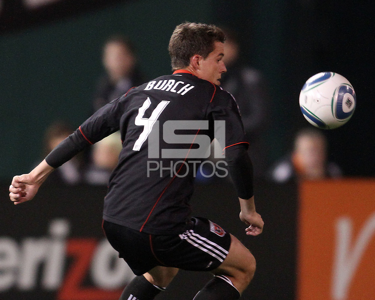 Mark Burch (4) of D.C. United  during an MLS match against the Los Angeles Galaxy at RFK Stadium, on April 9 2011, in Washington D.C. The game ended in a 1-1 tie.