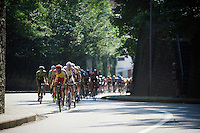 peloton out of the saddle &amp; up the Mechelsestraat (13 times)<br /> <br /> GP Jef Scherens 2015