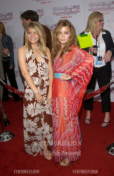 Actresses MARY-KATE OLSEN & ASHLEY OLSEN at the Hollywood premiere of  Charlie's Angels: Full Throttle..June 18, 2003.