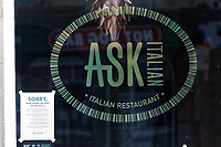 Pictured: The Ask restaurant which had to close down in Wind Street, Swansea, Wales, UK. Saturday 21 March 2020<br /> Re: Covid-19 Coronavirus pandemic, UK.