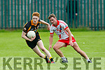 In Action  Stack Darragh Scanlon gets away from An Ghaeltacht Cathal O Fiannachta  in the   County League Div 1 Austin Stacks v An Ghaeltacht at Connolly Park on Sunday
