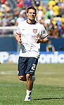 09 September 2007: The United States' Heath Pearce. The Brazil Men's National Team defeated the United States Men's National Team 4-2 at Soldier Field in Chicago, Illinois in an international friendly labeled the Clash of Champions.