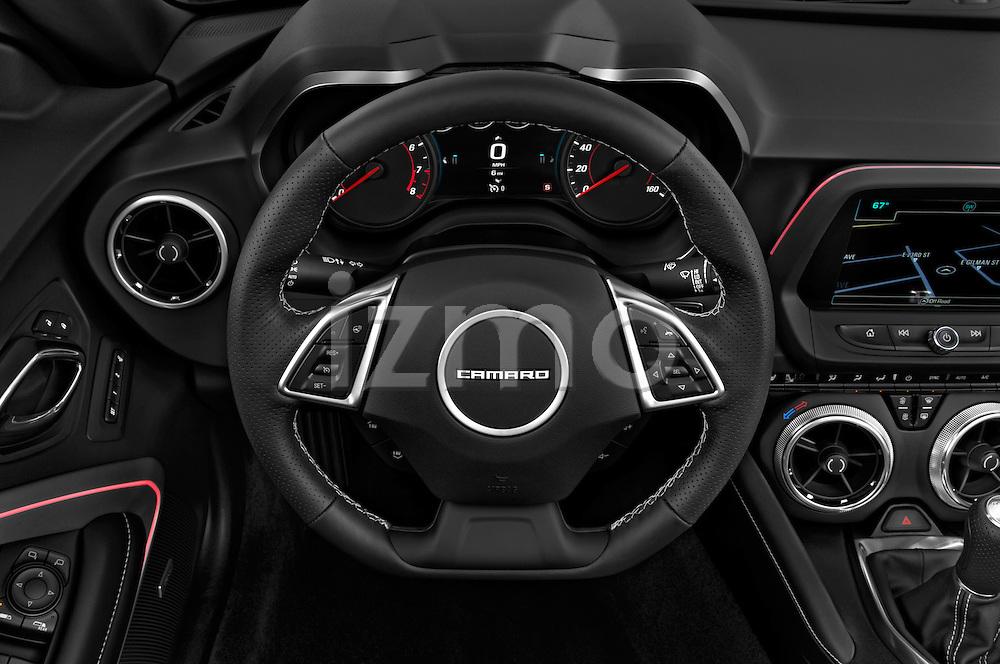 Car pictures of steering wheel view of a 2017 Chevrolet Camaro 2LT 2 Door Convertible Steering Wheel