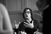 "Jarvis Cocker, Lead singer of the band Pulp. Originally from Sheffield, him and his band were in the forefront of the British Music scene in the late 90s and early 21st Century. Has a new solo album titled ""Jarvis"""