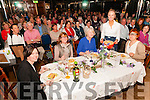 Wild Atlantic Seaweed Festival: Celebrity chef Clodagh McKenna serving out her cooked food to the lucky four who  won places at the top table -  Miriam Costello, Ina Ahern, Mary Cox & Sinead O'Brien.