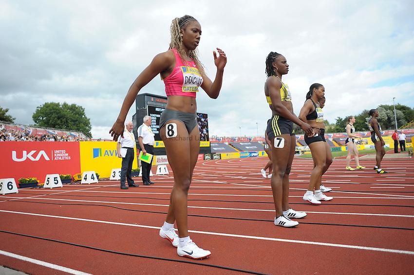 Photo: Ady Kerry/Richard Lane Photography..Aviva British Grand Prix. 31/08/2009. .Montell Douglas 100m start