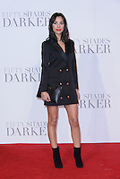 www.acepixs.com<br /> <br /> February 9 2017, London<br /> <br /> Fiona Wade arriving at the UK Premiere of 'Fifty Shades Darker' at the Odeon Leicester Square on February 9, 2017 in London, United Kingdom. <br /> <br /> By Line: Famous/ACE Pictures<br /> <br /> <br /> ACE Pictures Inc<br /> Tel: 6467670430<br /> Email: info@acepixs.com<br /> www.acepixs.com