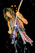 DOKKEN - guitarist George Lynch - performing live on the Metal Battle European Tour at the Teatro Tenda Lampugnano in MIlan Italy - 27 Mar 1986.  Photo credit: PG Brunelli/IconicPix