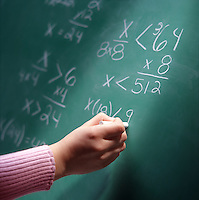 Mathmatical equation on blackboard
