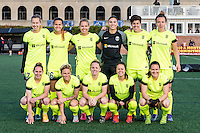 Allston, MA - Sunday, April 24, 2016: Seattle Reign FC team photo. The Boston Breakers play Seattle Reign during a regular season NSWL match at Harvard University.