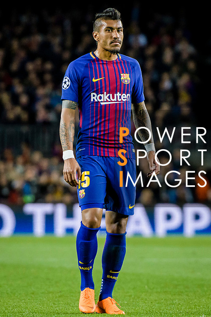 Jose Paulo Bezerra Maciel Junior, Paulinho, of FC Barcelona reacts during the UEFA Champions League 2017-18 quarter-finals (1st leg) match between FC Barcelona and AS Roma at Camp Nou on 05 April 2018 in Barcelona, Spain. Photo by Vicens Gimenez / Power Sport Images