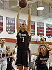 Gabrielle Zaffiro #13 of North Shore grabs a rebound during a varsity girls' basketball game against host Glen Cove High School on Friday, Dec. 18, 2015. She scored a game high 36 points, including 16 in the third quarter, to lead North Shore to a 64-53 win.