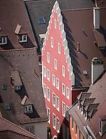Germany, DEU, Baden-Wurttemberg, Freiburg im Breisgau, 2010Jul29: A facade in the old town of Freiburg im Breisgau.