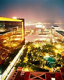 CHINA, Macau, Asia, Illuminated Sands Macao Hotel, Grand Lapa Hotel, Mandarin Oriental, swimming pool at night