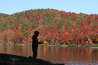 fish sherando lake  fall color