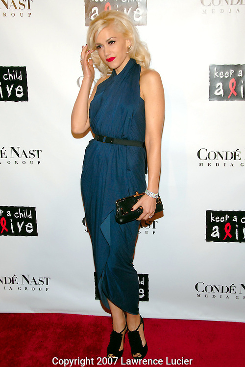 Recording artist Gwen Stefani arrives at the fourth annual Black Ball to benefit Keep A Child Alive October 25, 2007, at Hammerstein Ballroom in New York City.  (Pictured : GWEN STEFANI).