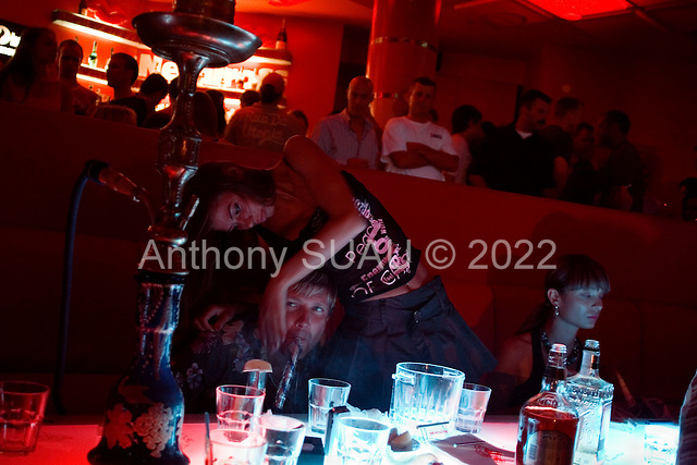Kiev, Ukraine.July 16, 2005 ..Saturday night in Kiev's Arena night club....