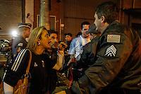 SÃO PAULO,SP,13.07.2014 - COPA 2014 - TORCIDA ARGENTINA x ALEMANHA CONFUSÃO - Confusão após  a partida  da Argentina contra a Alemanha pela  final da Copa do mundo 2014 no Bar Moocaires na Mooca região leste de São Paulo.(Foto Ale Vianna/Brazil Photo Press).