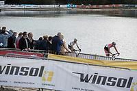 leaders Mathieu van de Poel (NED/Beobank Corendon) and World Champion Wout Van Aert (BEL/Crelan Charles)<br /> <br /> cx Telenet Superprestige Gieten 2017 (NED)