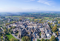 France, Aveyron, Sauveterre de Rouergue, labelled Les Plus Beaux Villages de France (The Most Beautiful Villages of France), the bastide (aerial view) // France, Aveyron (12), Sauveterre-de-Rouergue, labellisé Les Plus Beaux Villages de France, la bastide (vue aérienne)