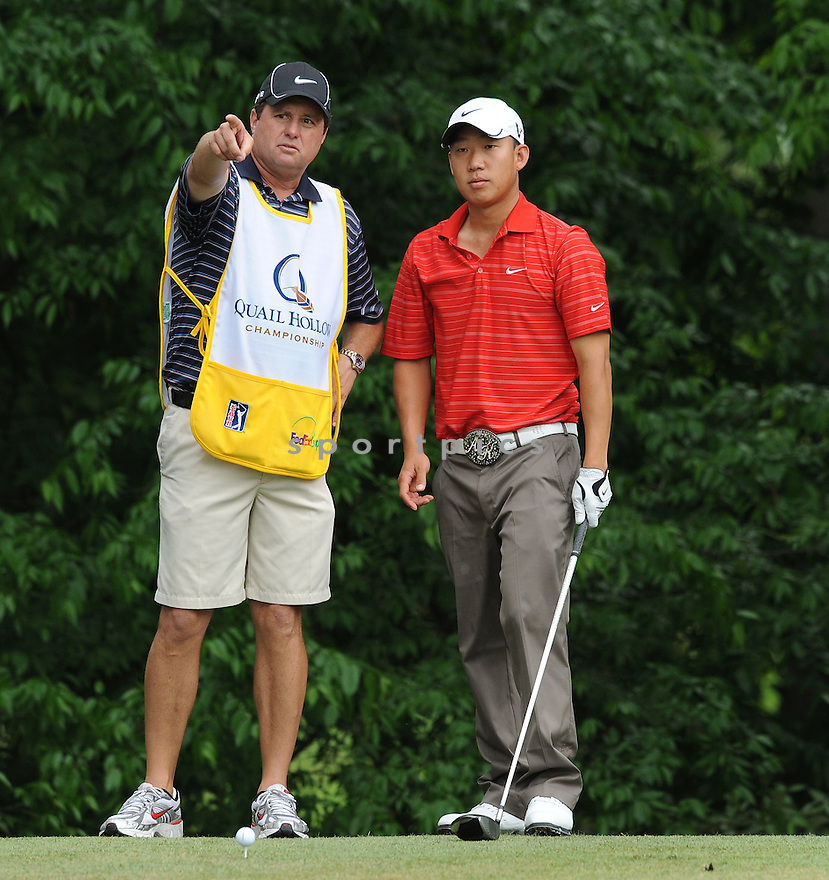 ANTHONY KIM, during the second round of the Quail Hollow Championship, on May 1, 2009 in Charlotte, NC.