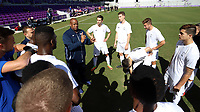 Orlando, Florida - Monday January 15, 2018: Bo Oshoniyi coaches Team X. Match Day 2 of the 2018 adidas MLS Player Combine was held Orlando City Stadium.