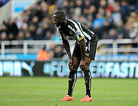 Moussa Sissoko of Newcastle United rues a missed chance on goal