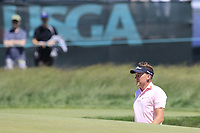 Ian Poulter (ENG) in a bunker at the 13th green during Thursday's Round 1 of the 118th U.S. Open Championship 2018, held at Shinnecock Hills Club, Southampton, New Jersey, USA. 14th June 2018.<br /> Picture: Eoin Clarke | Golffile<br /> <br /> <br /> All photos usage must carry mandatory copyright credit (&copy; Golffile | Eoin Clarke)