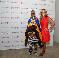 Esther Mahlangu and Cathy Steen attend the Belvedere (RED) Art Class at Ace Gallery in Los Angeles, CA on September 14, 2016 (Photo by Inae Bloom / Guest of a Guest)
