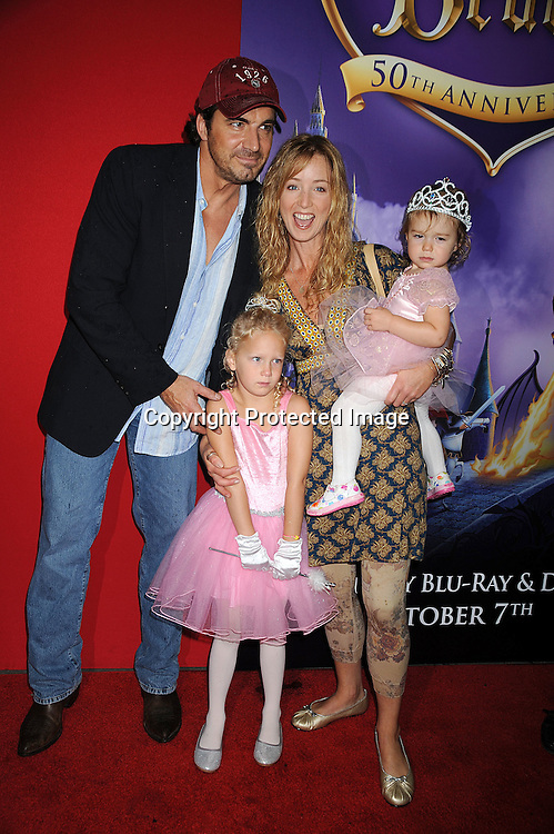 """Thorsten Kaye, Susan Haskell and daughters McKenna and Marlow on right.arriving at The screening of """"Sleeping Beauty""""  to celebrate the 50th Anniversary  release on 2 Disc Blu-Ray Hi Def DVD on September 28, 2008 at The Chelsea Cinemas. ..Robin Platzer, Twin Images"""