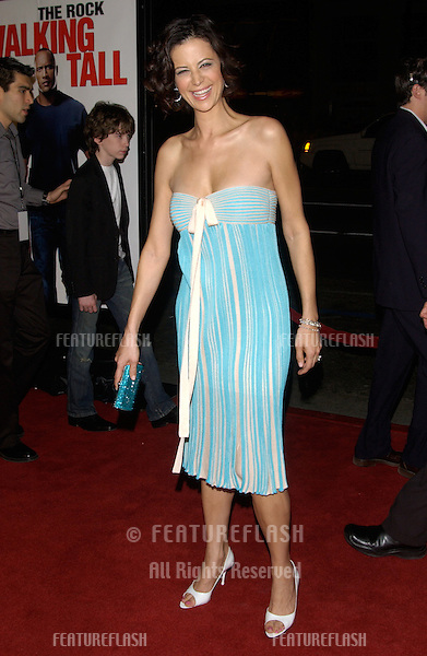 Actress CATHERINE BELL at the world premiere, in Hollywood, of Walking Tall..March 29, 2004