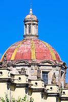 Santa Maria de Gracia Church in the historic center of Guadalajara, Jalisco, Mexico (One of the first cathedrals in Guadalajara)