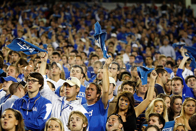 Fans boo the referee in the first half of UK vs Georgia on Sat. Oct. 23, 2010. Photo by Britney McIntosh | Staff