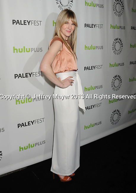 BEVERLY HILLS, CA - MARCH 15: Lily Rabe arrives at the 30th Annual PaleyFest: The William S. Paley Television Festival - Closing Night Presentation honoring 'American Horror Story' at the Saban Theatre on March 15, 2013 in Beverly Hills, California.