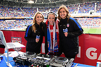 Harrison, NJ - Sunday March 04, 2018: DJ Amy Robbins, Female Live Hosts during a 2018 SheBelieves Cup match match between the women's national teams of the United States (USA) and France (FRA) at Red Bull Arena.