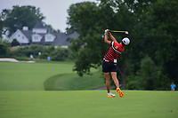 Hyo Joo Kim (KOR) hits her second shot on 8 during Thursday's first round of the 72nd U.S. Women's Open Championship, at Trump National Golf Club, Bedminster, New Jersey. 7/13/2017.<br /> Picture: Golffile | Ken Murray<br /> <br /> <br /> All photo usage must carry mandatory copyright credit (&copy; Golffile | Ken Murray)