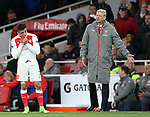 Arsenal's Arsene Wenger looks on after Alexis Sanchez gets a ball in the mouth during the Premier League match at the Emirates Stadium, London. Picture date: April 26th, 2017. Pic credit should read: David Klein/Sportimage