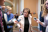 United States Representative Nita Lowey (Democrat of New York) answers reporter's questions as she departs the US Senate Chamber after joining her US House Democratic colleagues in witnessing two votes on legislation to reopen the government in the US Capitol in Washington, DC on Thursday, January 24, 2019.  Both proposals were voted upon and both failed to get enough votes to pass.<br /> Credit: Ron Sachs / CNP