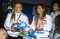 50 breaststroke women<br /> MEILUTYTE Ruta, Lithuania LTU,silver medal<br /> EFIMOVA Yuliya, Russia RUS, gold medal <br /> Swimming - Nuoto <br /> Barcellona 4/8/2013 Palau St Jordi <br /> Barcelona 2013 15 Fina World Championships Aquatics <br /> Foto Andrea Staccioli Insidefoto
