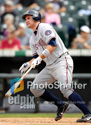 10 September 2006: Ryan Zimmerman, third baseman for the Washington Nationals, in action against the Colorado Rockies. The Rockies defeated the Nationals 13-9 at Coors Field in Denver, Colorado...Mandatory Photo Credit: Ed Wolfstein.