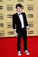 January 15, 2010:  Nick Jonas arrives at the 15th Annual Critics' Choice Movie Awards held at the Palladium in Los Angeles, California. .Photo by Nina Prommer/Milestone Photo
