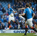 Nicky Clark heads the ball down to Jon Daly for the big Irish striker to tap in goal no 5