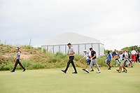 Kevin Na (USA), Jimmy Walker (USA), and Brian Gay (USA) make their way down 1 during round 4 of the AT&T Byron Nelson, Trinity Forest Golf Club, at Dallas, Texas, USA. 5/20/2018.<br /> Picture: Golffile | Ken Murray<br /> <br /> All photo usage must carry mandatory copyright credit (© Golffile | Ken Murray)