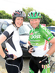 Theresa Hanratty and Barry Meehan who took part in the Dromin 60k cycle in aid of Ardee Hospice Homecare. Photo: Colin Bell/pressphotos.ie