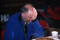 Sleepy J.Austin inside Ruby ckpt / '96 Iditarod