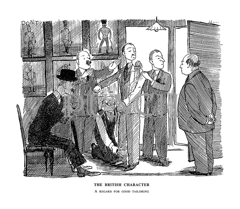 The British Character. A Regard for Good Tailoring..