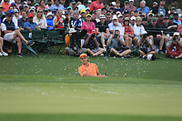 Rickie Fowler (USA) on the 18th green during the final round at the The Masters , Augusta National, Augusta, Georgia, USA. 14/04/2019.<br /> Picture Fran Caffrey / Golffile.ie<br /> <br /> All photo usage must carry mandatory copyright credit (© Golffile | Fran Caffrey)
